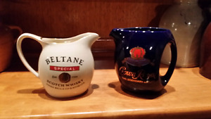 Collector vintage whisky & crown Royal jugs