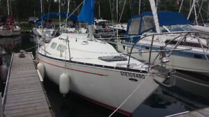 1980 Mirage 27, Sail away on this beautiful boat!