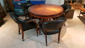 Set of 4 poker table swivel chairs