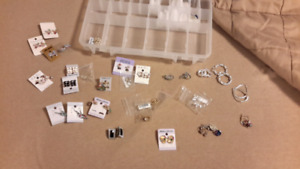 32 pairs of brand new costume earrings!