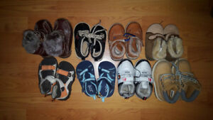 Size 4 and 6 Baby Boy Toddler Shoes Lot - 8 Pairs for Only $40
