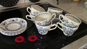 J&G Meakin, England - Blue Nordic Cups and Saucers Kitchener / Waterloo Kitchener Area image 1