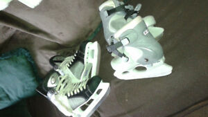 2 pairs of skates