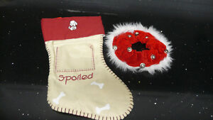 """Spoiled"" Dog Stocking & Bone-Bell Collar"