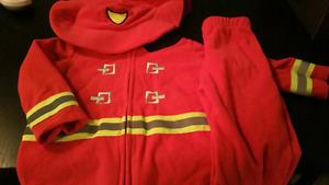 Firefighter jacket & pants fleece 18m