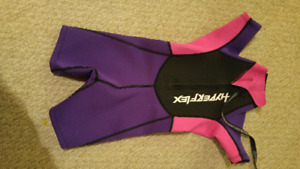 GIRLS NEOPRENE SHORTY WET SUIT