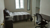 Clean & Quiet Furnished Bedroom with Parking Avail. June 1st^#