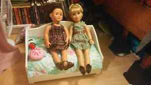 American Girl bed, Karito Kid doll and Generation Girl doll