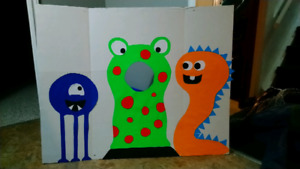 Kids party photo board