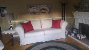 Cream Colored Couch w/ removable covers