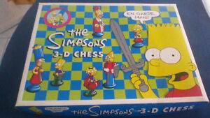 Vintage Simpson's 3-D Chess Game