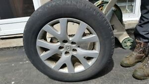 """Set of 17"""" Mazda Rims with Michelin tires - good condition"""