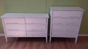 Professionally painted today sugar white dresser set. $329