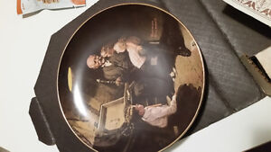 Collector plate. Norman rockwell