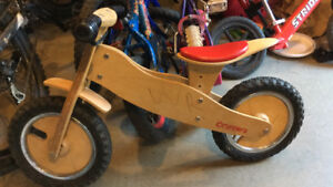 Runners Wooden Push Bicycle