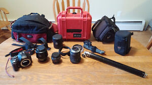Pentax SLR + 3 lenses + tons or extras
