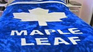 Toronto Maple Leafs King Size Faur Fur blanket