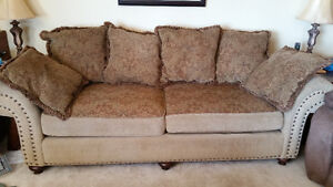 Couch and chair (reversible cushions)