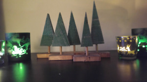 Rustic Christmas trees (set) decoration