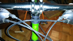 Haro hybrid bicycle and trainer