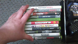 Xbox 360 slim w/games and accessories.