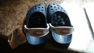 Sandales Crocs du Canadien Hockey 35.00$