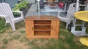 Nice solid T.V stand and cabinet.