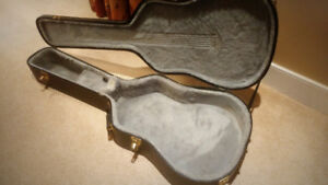 Acoustic Guitar Hard Shell Case - $60