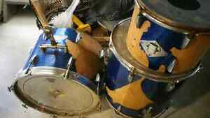 80$ bass drum floor tom and tom with mount