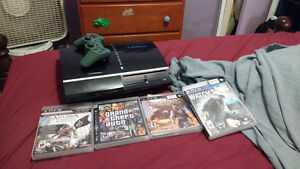 Ps3 with four games