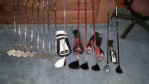 TNT Ti irons with drivers and Hybrids