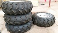 yamaha grizzly 700 factory rims and tires