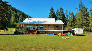 Last affordable warm area acreage with newer house, Creston, BC