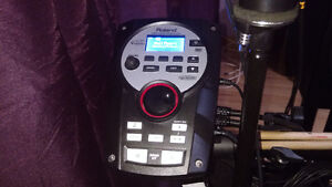 Roland TD11KV with VH11 hi-hat and extra crash cymbal.