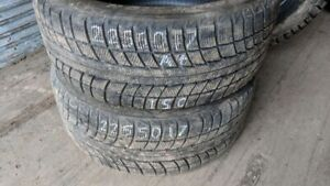 Pair of 2 Triangle Snowlion 225/50R17 WINTER tires (85% tread li