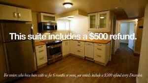 2 bedroom basement suite in the North West, near RCMP depot