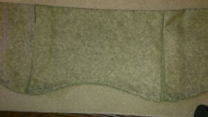 Gorgeous Custom Made 70 inch Valance (Green in color)