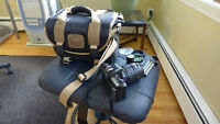 Pentax MZ10 35mm camera and bag
