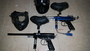 Used paintball markers