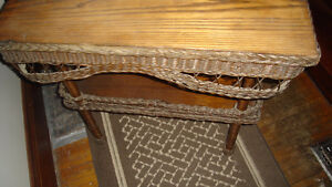 Wicker fern table Cambridge Kitchener Area image 1