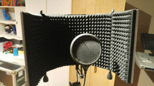 Mic stand reflection pop filter