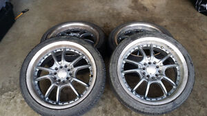 Set of 4 Winter studdable tires