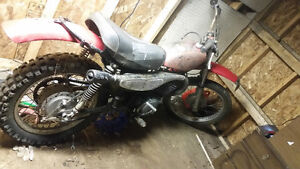mt 250 2stroke and kv pitbike with 250 motor