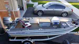 30 Honda, 14' boat and trailer