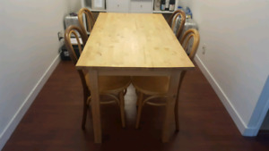 Solid wood dining table or desk