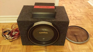 "Rockford Fosgate P2 12"" Subwoofer with Cerwin Vega Amplifier"