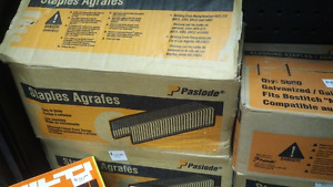 Boxes of Paslode Staples - flooring / moulding