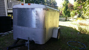 Enclosed Aluminum construction trailer. Light weight