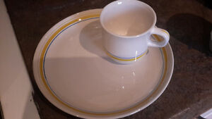 Vintage Luncheon plate and cup sets - 7 sets