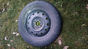 4 winter tires w/ 4 black steel rims for Honda, Toyota or Mazda